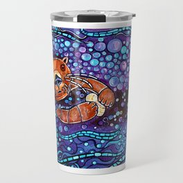 Otter bubble bath Travel Mug