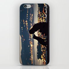 Girl and dog silhouettes  iPhone Skin