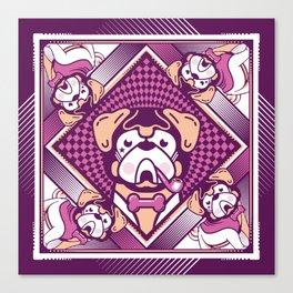pug violette Canvas Print