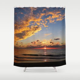Florida Sunset - South Lido Beach  Shower Curtain