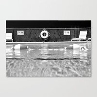 pool Canvas Prints featuring Pool by Katie Jean Images