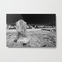 Gravestone in a cemetery on the side of Pacific Coast Highway. Metal Print