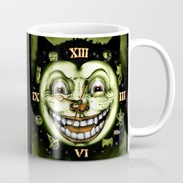 Black Cat 13 Halloween Clock Coffee Mug