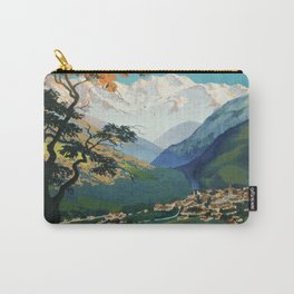 Allevard Les Bains, French Travel Poster Carry-All Pouch