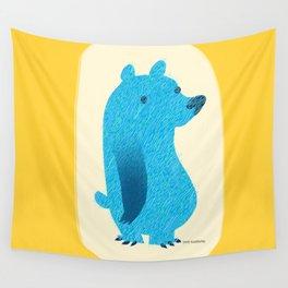 Blue Bear Wall Tapestry