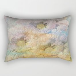 Soft Painted Rainbow Daisies Abstract Rectangular Pillow