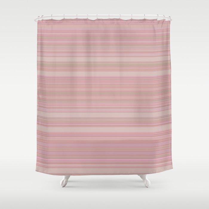 Dusk Heavenly Pink Stripes Shower Curtain By Artaddiction45
