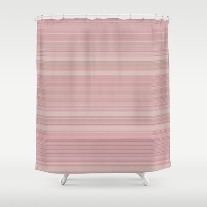 Dusk Heavenly Pink Stripes Shower Curtain By Artaddiction45