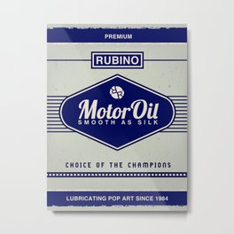 Rubino Motor Oil Metal Print