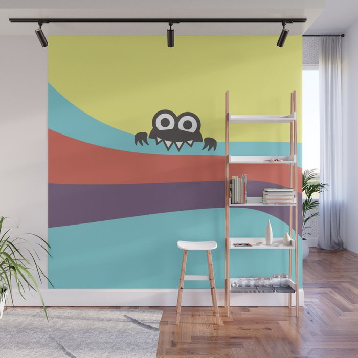 Yummy Colorful Stripes Cute Cartoon Character Wall Mural