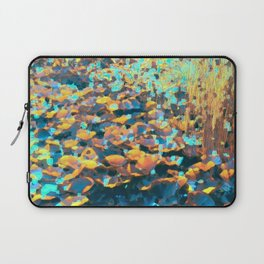 Colorful Lily Pads And River Grass Laptop Sleeve