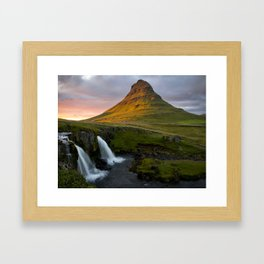 Kirkjufell at Sunset Framed Art Print