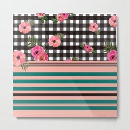Bingham+Floral III Metal Print