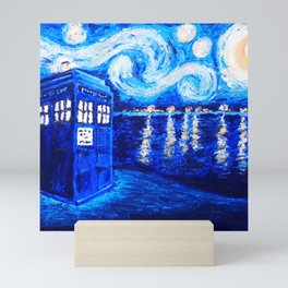 Tardis Starry Art Night Mini Art Print