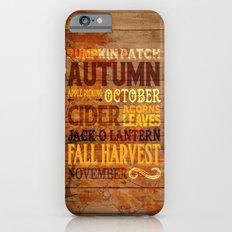 Subway Style Autumn Words iPhone 6s Slim Case