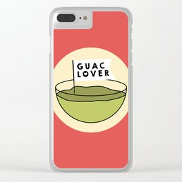 Guac Lover Clear iPhone Case