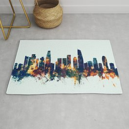 Los Angeles California Skyline Rug