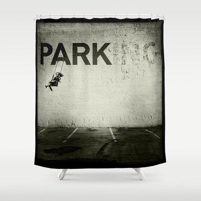Banksy Tag Adam Reynolds 6999 Style Shower Curtain