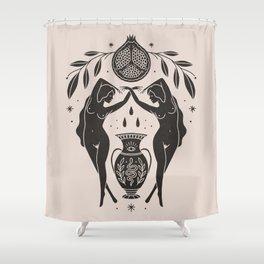 Persephone - Black Shower Curtain