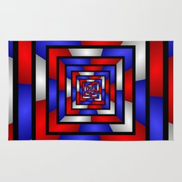 Colorful Tunnel 3 Digital Art Graphic Rug