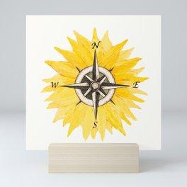 Compass  Sunflower Mini Art Print
