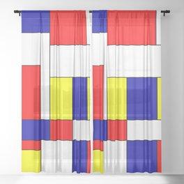 Mondrian #37 Sheer Curtain