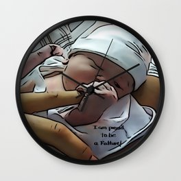 Proud Father Wall Clock