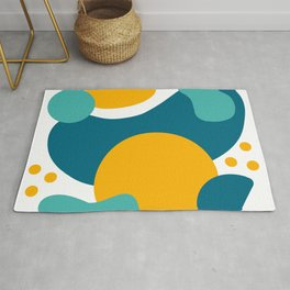 Abstract Ocean Sunset Rug