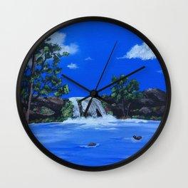 Morning Waters Wall Clock