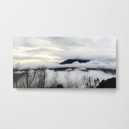 MOUNTAIN FOG IN A PLATEAU Metal Print