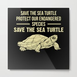 Sea Turtle Turtle Metal Print