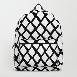 Rhombus White And Black Backpack