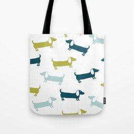 Lovely dachshunds in great colors Tote Bag