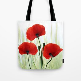 Poppies red 008 Tote Bag