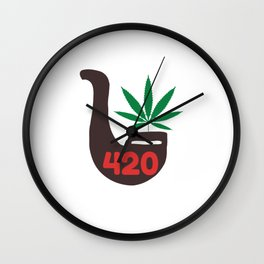 420 Pipe Wall Clock
