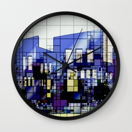 Abstract Architecture Background Wall Clock