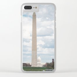 The Monument and the Capitol - Washington DC Clear iPhone Case