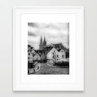 france Framed Art Prints featuring France by Iveta S.