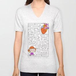 labyrinth Unisex V-Neck