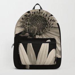 Black And White Sunflower Backpack