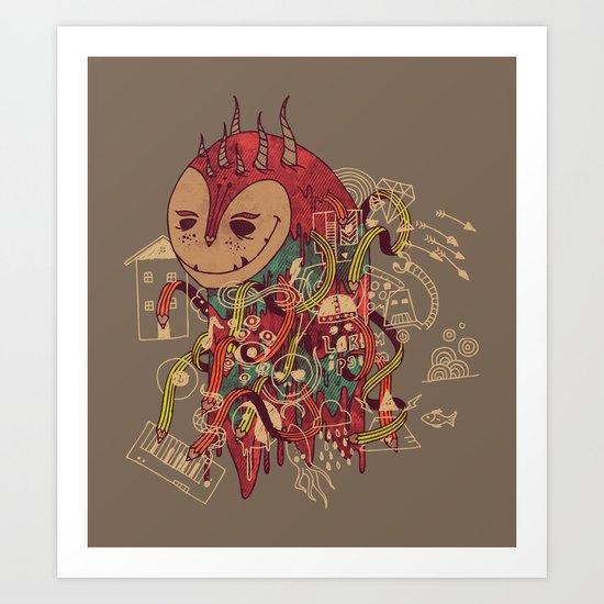 The Doodler Art Print