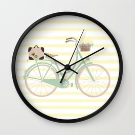 Vintage Summer Bicycle Wall Clock