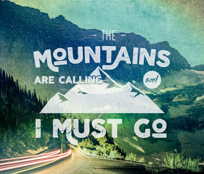 The Mountains are Calling and I Must Go White Metal Travel Mug