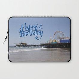 Happy Birthday Santa Monica Pier Laptop Sleeve