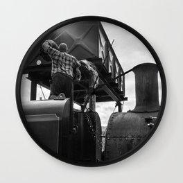 Steam Engine at Rhyd Ddu, Wales Wall Clock