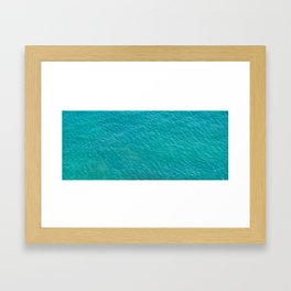 Turquoise water fliped Framed Art Print