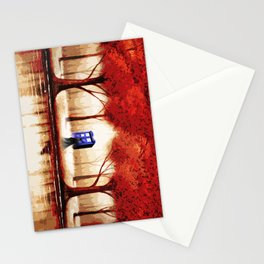 Tardis Cloud - Red Stationery Cards