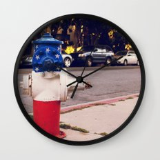 Hydrant National ∫ Living Los Angeles Wall Clock