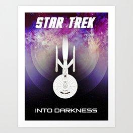 Star Trek Into Darkness Minimalist Poster Art Print