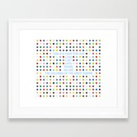 30 seconds to mars Framed Art Prints featuring Thirty Seconds To Mars ; Conquistador by Wis Marvin